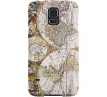Vintage Antique Map of the World Circa 1686 Samsung Galaxy Case/Skin