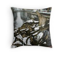 Statue on the Water Throw Pillow