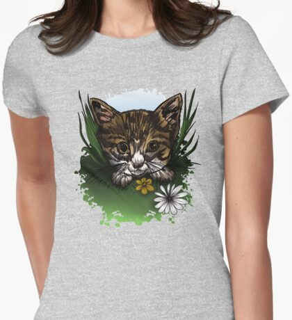 Calico Kitty Womens Fitted T-Shirt