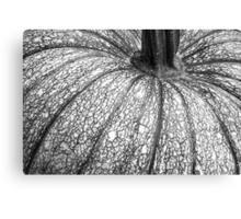 Pumpkin Pumpkin Black and White Canvas Print