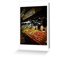 Fruits & Vegetables Greeting Card