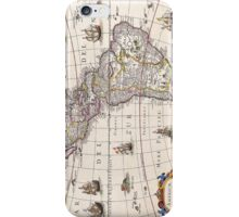 Vintage Antique Map of the Americas Circa 1650 iPhone Case/Skin