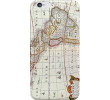 Vintage Antique Map of the Americas Circa 1626 iPhone Case/Skin