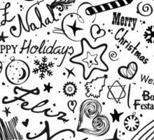 Merry Christmas Multiple Languages Sticker