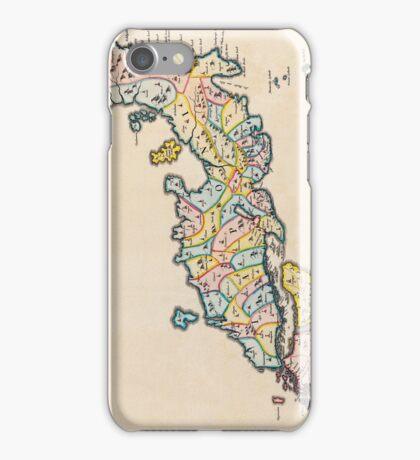 Vintage Antique Map of Japan Circa 1655 iPhone Case/Skin