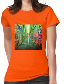 Graffiti color  Womens Fitted T-Shirt