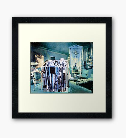 Strangeness of Christmas Wrapping Paper. Framed Print
