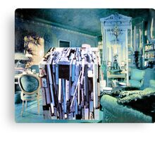 Strangeness of Christmas Wrapping Paper. Canvas Print