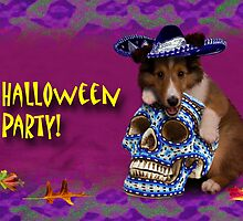 Halloween Party Sheltie Puppy by jkartlife