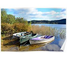Boats On Loch Ard Poster