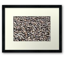 Landscaping and River Bed Stone Framed Print