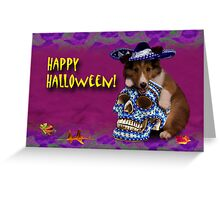 Happy Halloween Sheltie Puppy Greeting Card