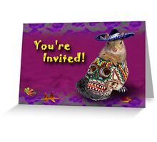 You're Invited Squirrel Greeting Card