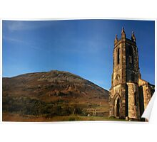 Dunlewey Church and Mount Errigal Poster