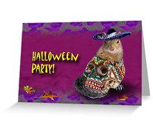 Halloween Party Squirrel Greeting Card
