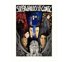 SuperWhoLock The Comic Official Poster Art Print