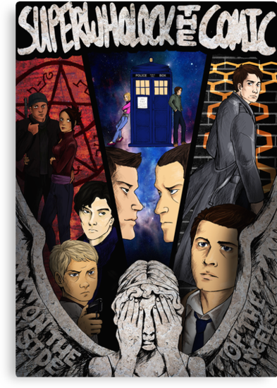 SuperWhoLock The Comic Official Poster by AngelOf221B