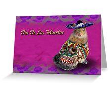 Dia De Los Muertos Day Of The Dead Squirrel Greeting Card