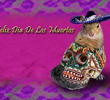 Feliz Dia De Los Muertos Happy Day Of The Dead Squirrel by jkartlife