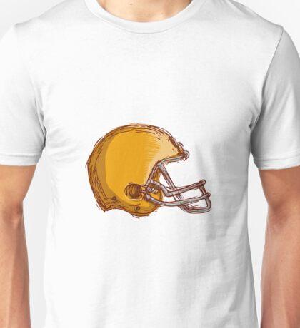 American Football Helmet Drawing Unisex T-Shirt