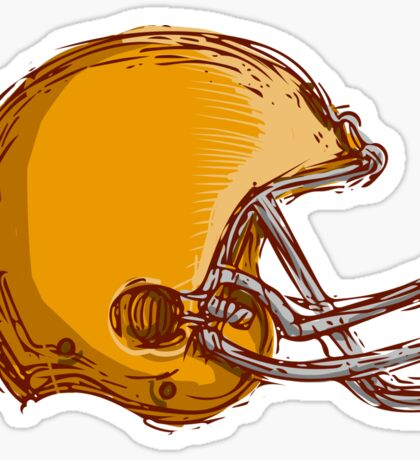 American Football Helmet Drawing Sticker