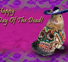 Happy Day Of The Dead Squirrel by jkartlife