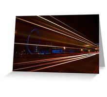 Westminster bridge car lights  Greeting Card