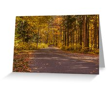 Country Road In Color Greeting Card