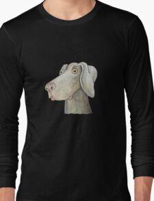 Quirky Weinmaraner in Watercolour Long Sleeve T-Shirt