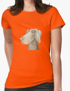 Quirky Weinmaraner in Watercolour Womens Fitted T-Shirt