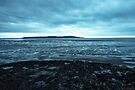 Dusk over Flat Island Holm from Weston-Super-Mare by MarcW