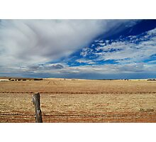 Rural fence line Photographic Print
