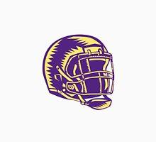 American Football Helmet Woodcut Unisex T-Shirt