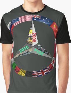 Lewis Hamilton Triple World Champion Graphic T-Shirt
