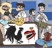 In the RoosterTeeth office by sonnibun