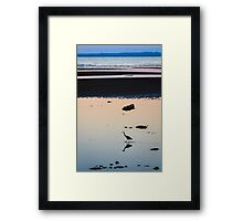 Heron at Dusk Framed Print