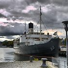 Down on the wharf in Stockholm  (3) ... the SS.SANKT ERIK by Larry Lingard-Davis