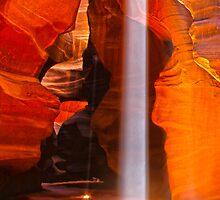 Shaft of Light - Antelope Canyon Arizona by Skip Weeks