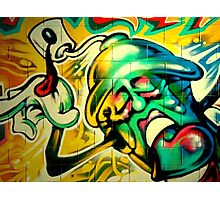 Graffiti color face Photographic Print