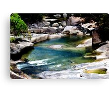 Down the river - Babinda Boulders Canvas Print