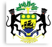 Gabon Coat of Arms Canvas Print