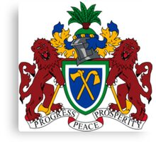 Gambia Coat of Arms  Canvas Print