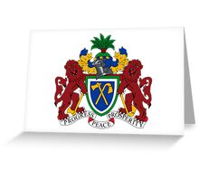 Gambia Coat of Arms  Greeting Card