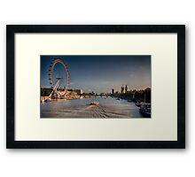 A Summer's evening on the Thames Framed Print