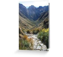 Inca Trail - Pathway to the mountains Greeting Card