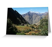Inca Trail - Typical view Greeting Card