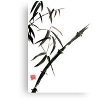 Bamboo japanese chinese sumi-e suibokuga tree watercolor original ink painting Metal Print