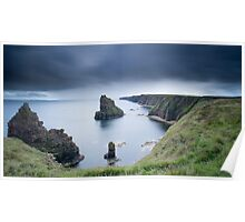 Long Exposure, Stacks of Duncansby, Caithness, Scotland Poster