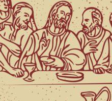 Last Supper Jesus Apostles Drawing Sticker