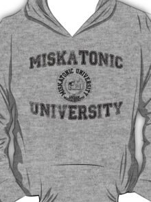 Miskatonic University (Black version) T-Shirt